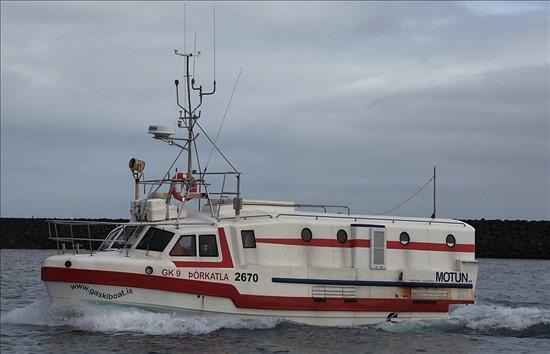 Offshore Commercial Longline Fishing Boat 6970 Þórkatla GK-9 From Grindavík Iceland.