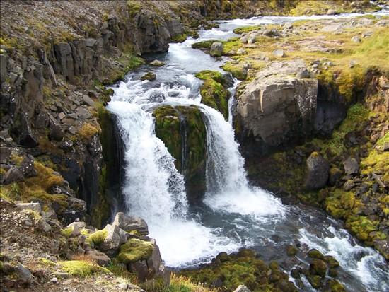 Foss í Hörgá neðan við Svínamýrar