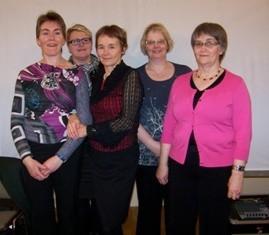 Lilja, Borghildur, Pálína, Ingunn og Kristín