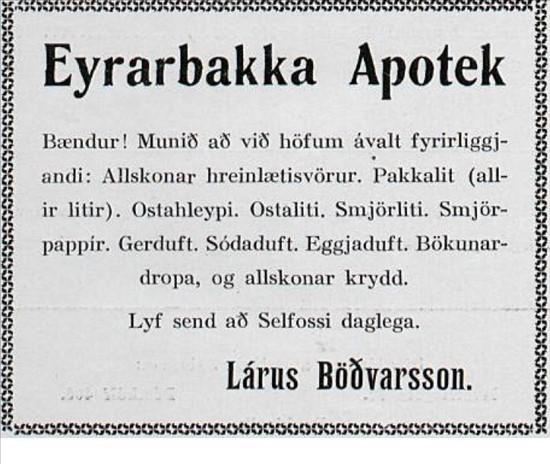 Eyrarbakka apotek