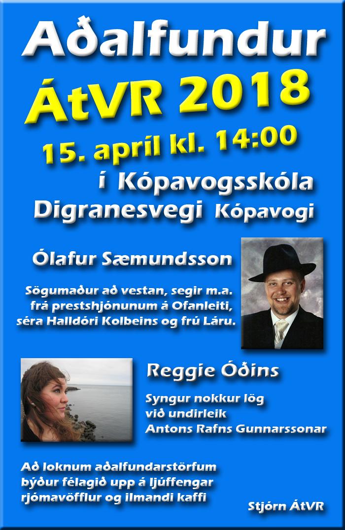Aðalfundur ÁtVR 2018- Auglýsing