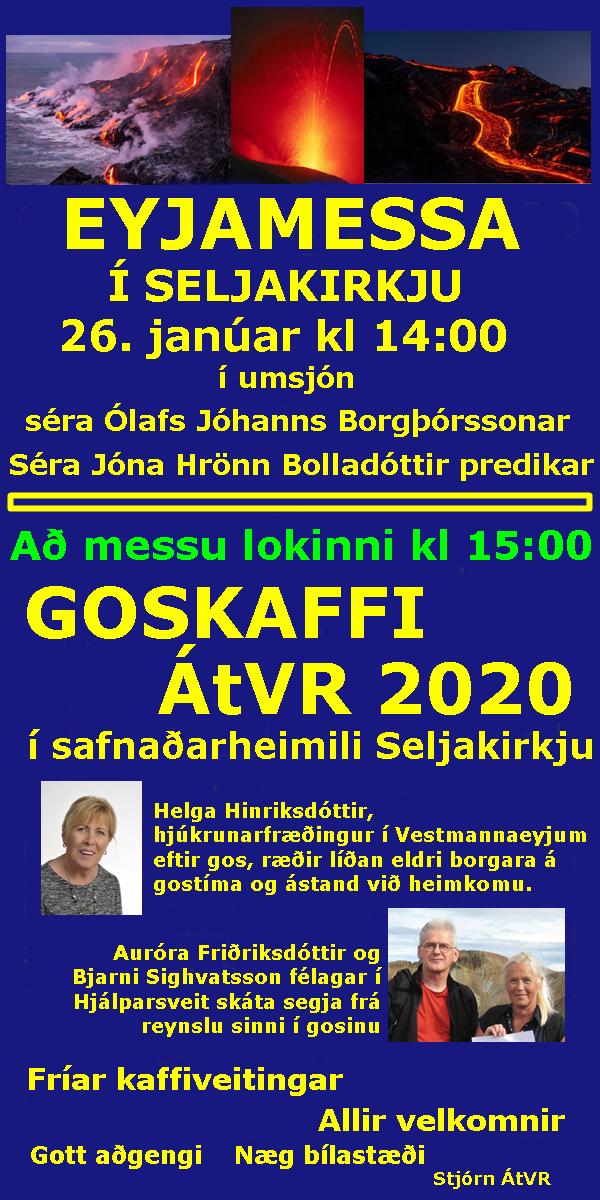 Eyjamessa og Goskaffi ÁtVR 2020