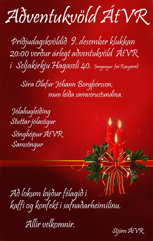 Aðventukvöld ÁtVR 2014