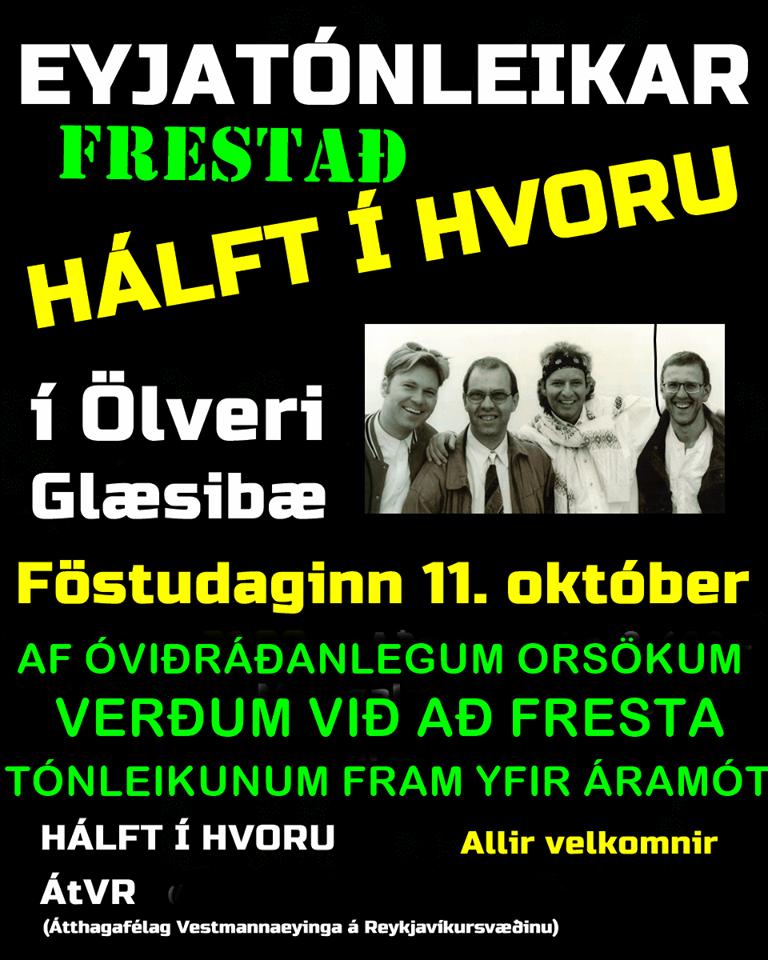 Frestum tónleikum með Hálft í hvoru