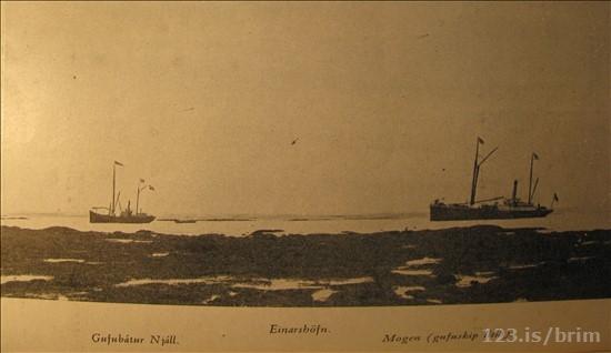 Gufubátar á Einarshöfn um aldamótin 1900